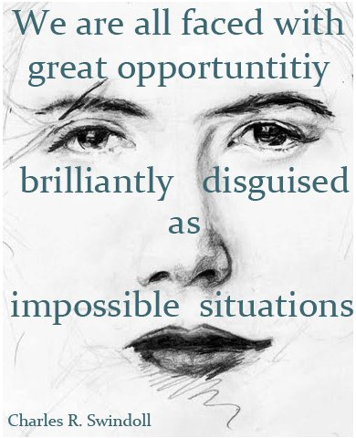 Your Opportunity.............Shrouded in Difficulty